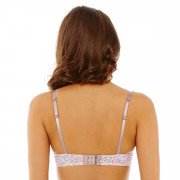Soutien-gorge ampliforme push moulé noisette/rose Limonade