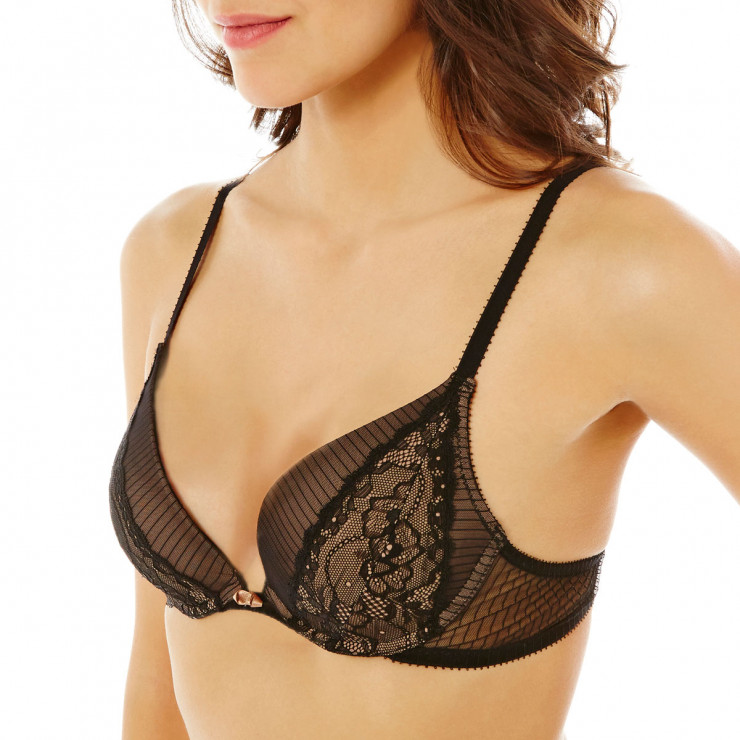 Soutien-gorge push-up noir/peau So What