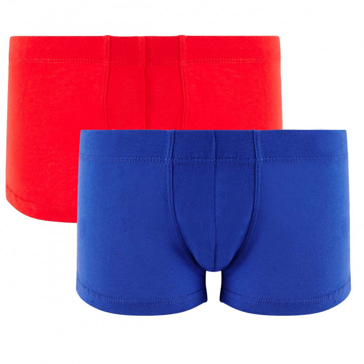 Lot de 2 boxers boy rouge & bleu Cool Plain by Djembé