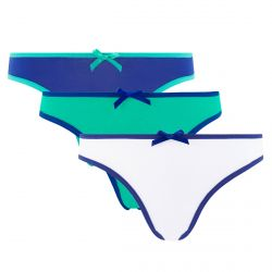 Lot de 3 slips girl blanc, menthe & bleu Summer
