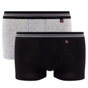 Lot de 2 boxers gris chiné & noir Gentleman
