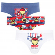 Lot de 3 slips Boy Happy College by Smiley