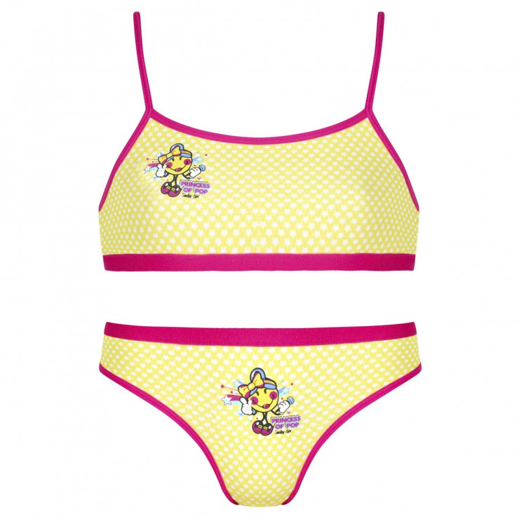 Ensemble brassière + slip imprimé Popstar by Smiley