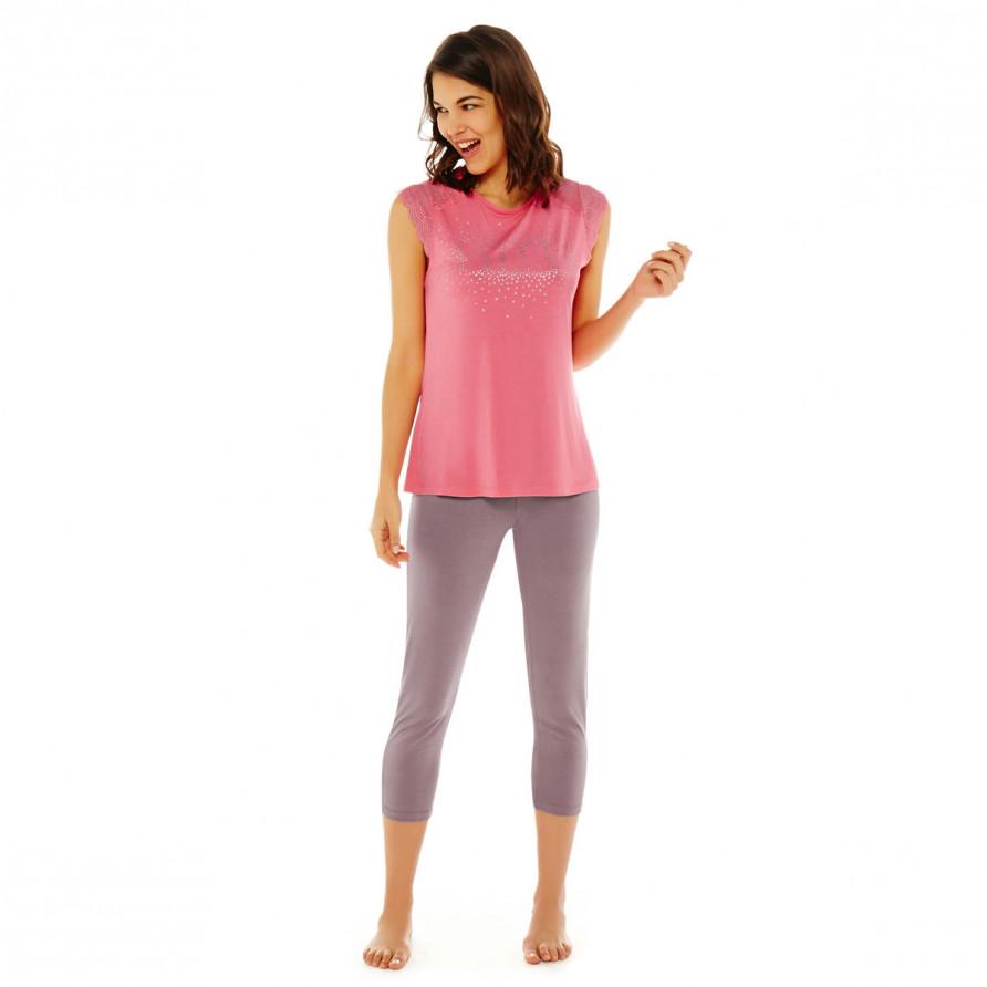 Pyjama rose/noisette Etoile