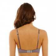 Soutien-gorge ampliforme push moulé noisette/or Solitaire
