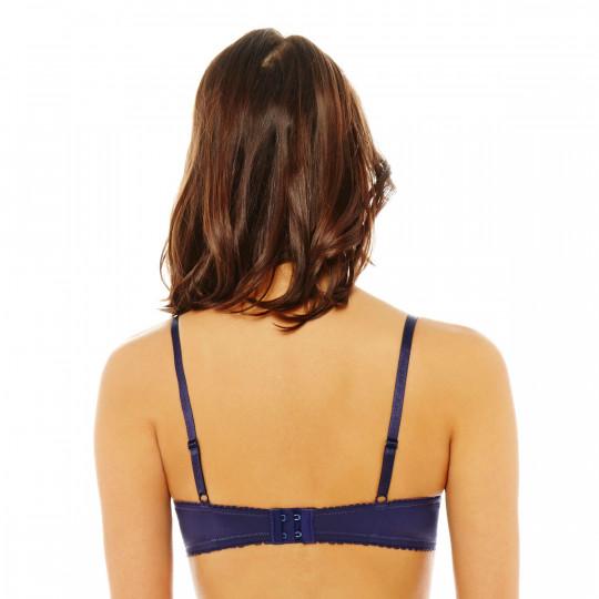 Soutien-gorge push-up bleu Romantique - vue 2