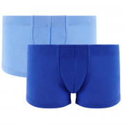 Lot de 2 boxers boy bleu & bleu ciel Cool Plain by Djembé