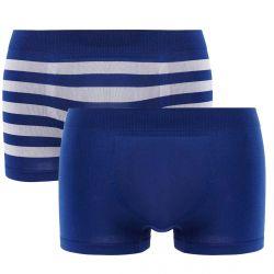 Lot de 2 boxers bleu nuit & rayé bleu/gris Seamless