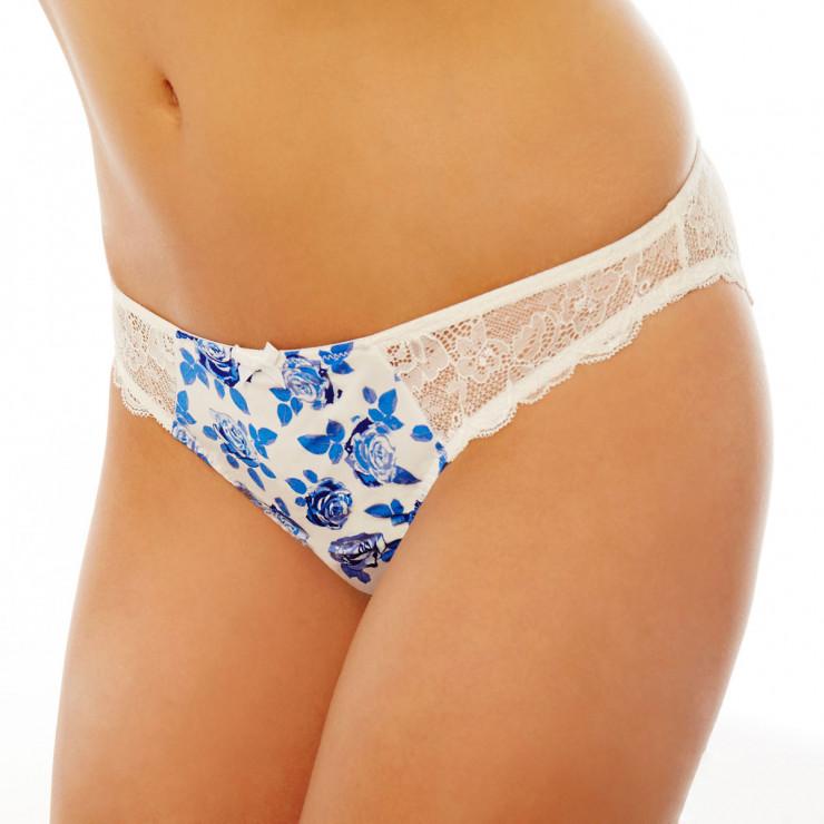 Slip blanc/bleu Gabriella
