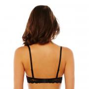 Soutien-gorge bandeau bretelles détachables blanc/noir Gabriella