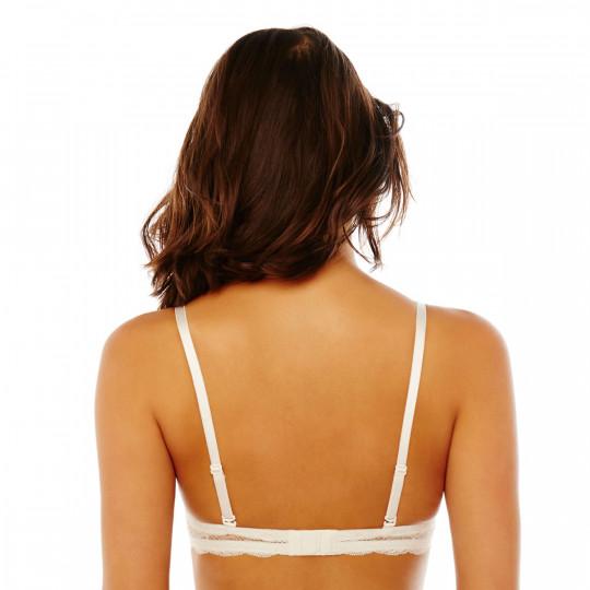 Soutien-gorge bandeau bretelles détachables blanc/bleu Gabriella - vue 3