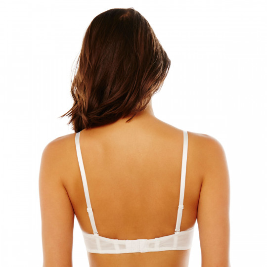 Soutien-gorge  bandeau bretelles détachables blanc Séduisante