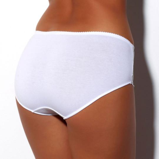 Culotte midi blanche Calyopée