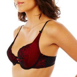 Soutien-gorge push-up noir rouge Cachotière 436b4df4672