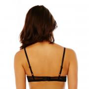 Soutien-gorge ampliforme push moulé noir/crème Crâneuse