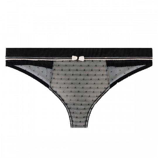 String noir/crème Crâneuse