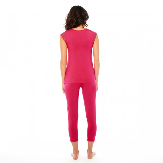 Pyjama fuchsia Hula Hoop - vue 3