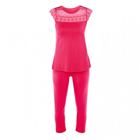 Pyjama fuchsia Hula Hoop - vue 0