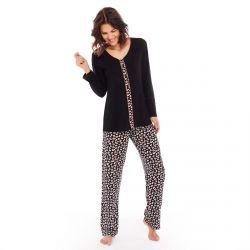 Pyjama noir/peau Pause Café