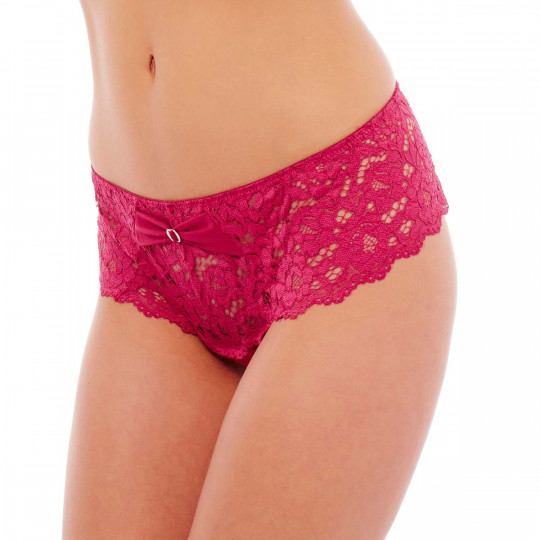 Shorty string framboise Paradoxe - vue 1