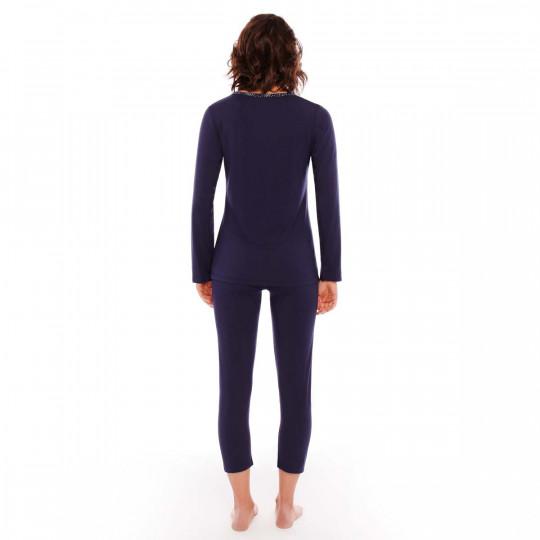 Pyjama denim/argent Imprésario - vue 3