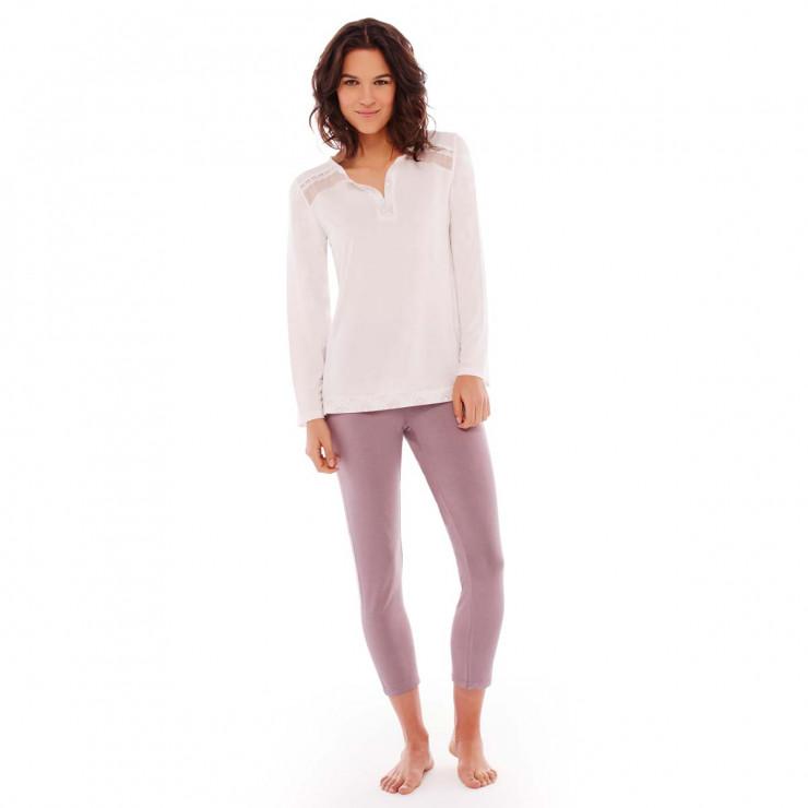 Pyjama ivoire/cuivre Imprésario