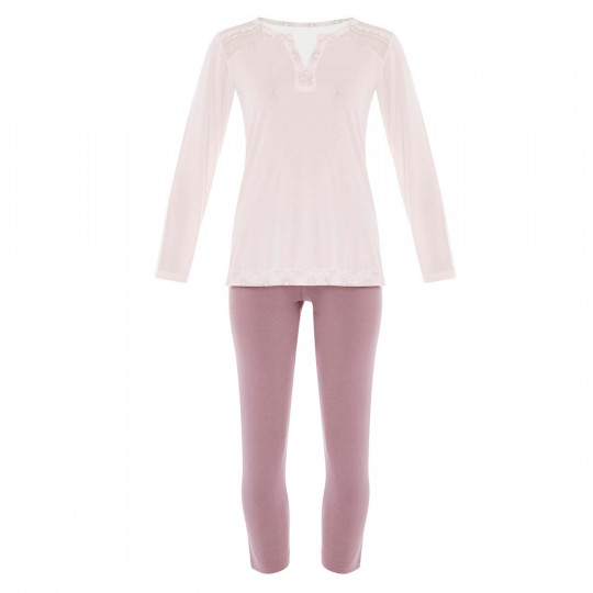 Pyjama ivoire/cuivre Imprésario - vue 0