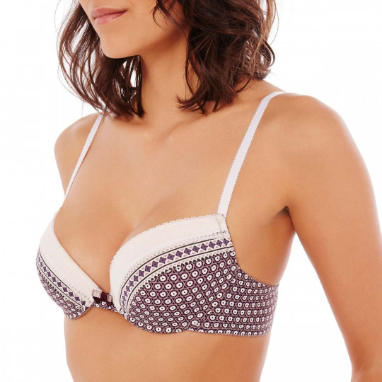 Soutien-gorge ampliforme push moulé noisette/prune Frozen