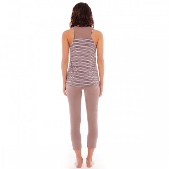 Pyjama noisette/prune Frozen - vue 2