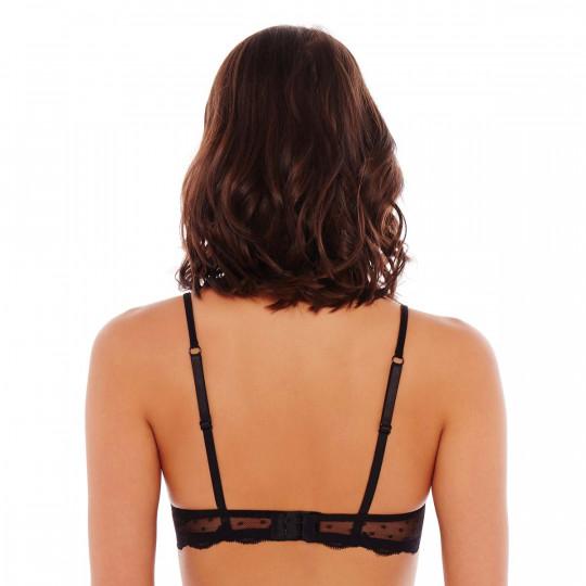 Soutien-gorge ampliforme push moulé noir/crème Fashion Alert - vue 2
