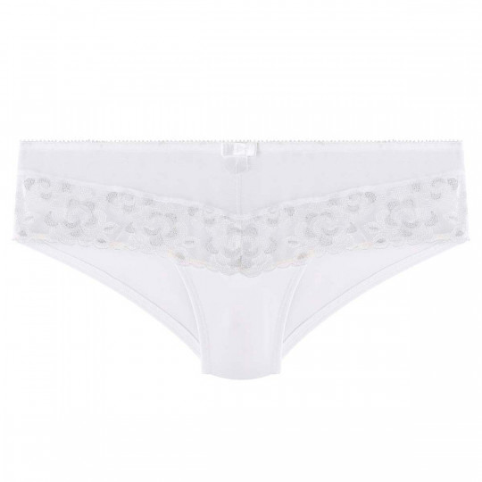 Shorty blanc/argent Décalcomanie