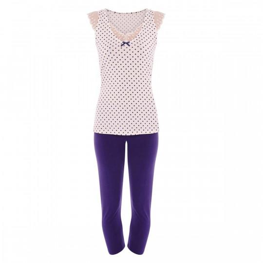 Pyjama ivoire/indigo Blabla - vue 0