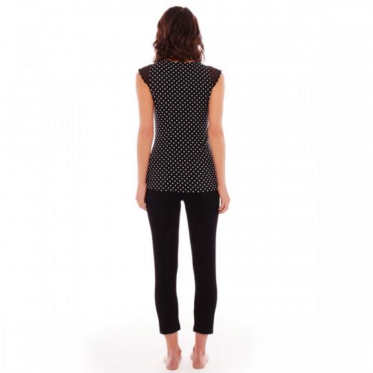 Pyjama noir/ivoire Blabla - vue 2