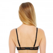 Soutien-gorge push-up noir/rouge Big Apple