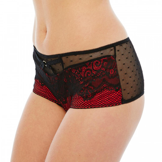 Shorty string noir/rouge Big Apple