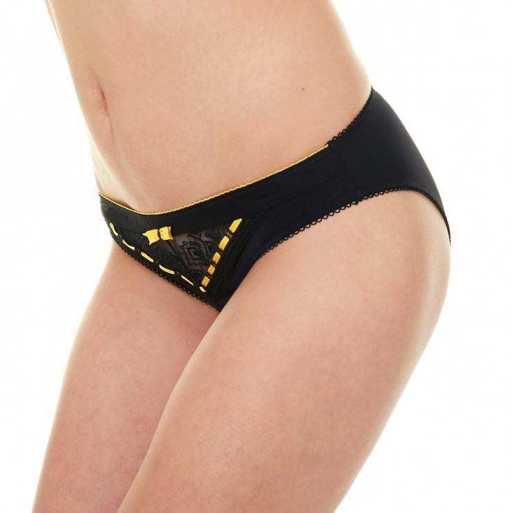 Slip noir/jaune Brunch