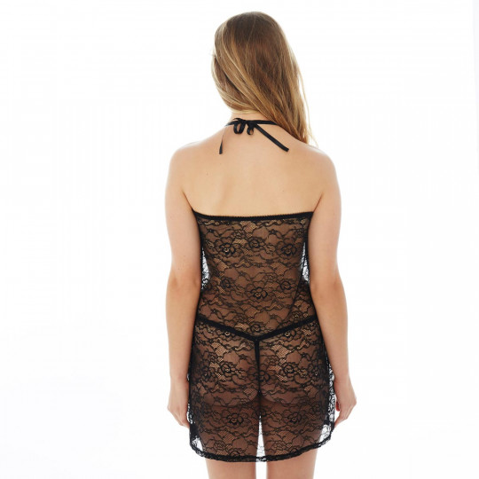 Nuisette + string noir/ivoire Canaille - vue 2