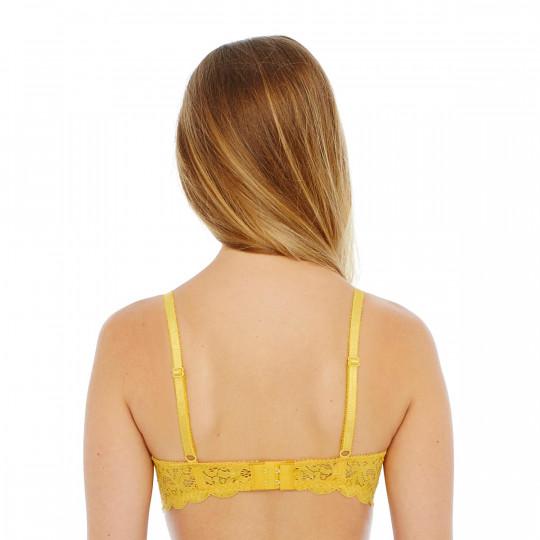 Soutien-gorge ampliforme push moulé jaune Innocente - vue 3