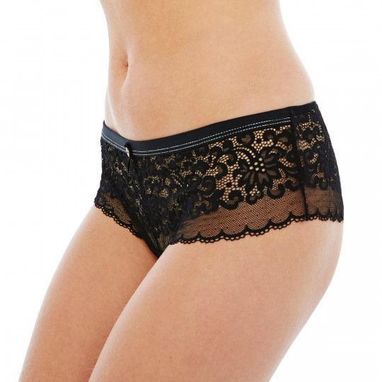 Shorty tanga noir Happy Hour