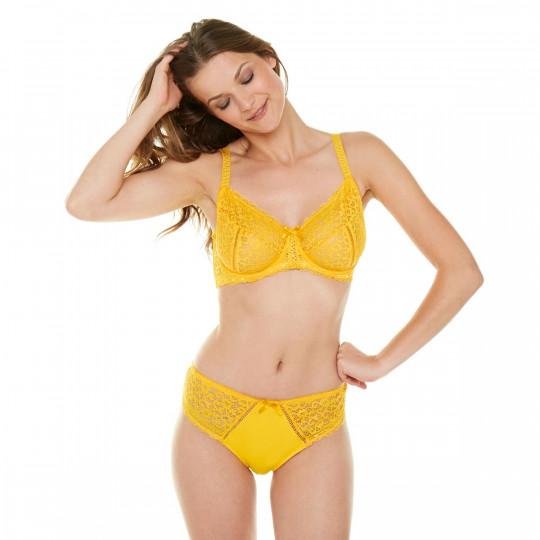 Soutien-gorge emboitant bonnets C, D et E jaune Elena - vue 2