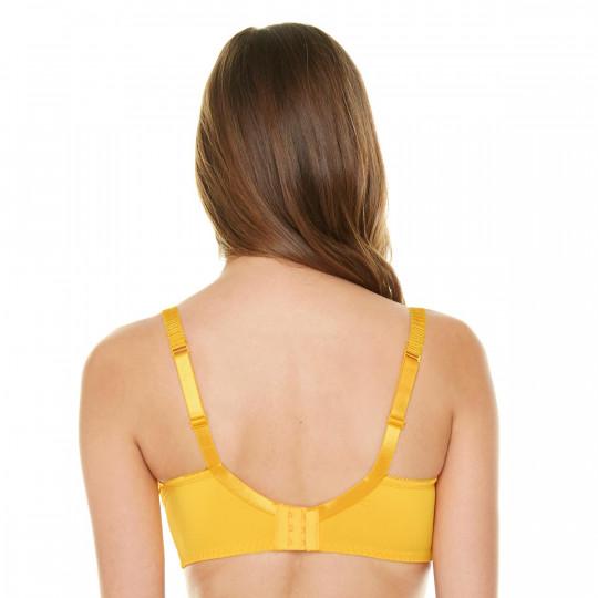 Soutien-gorge emboitant bonnets C, D et E jaune Elena - vue 3