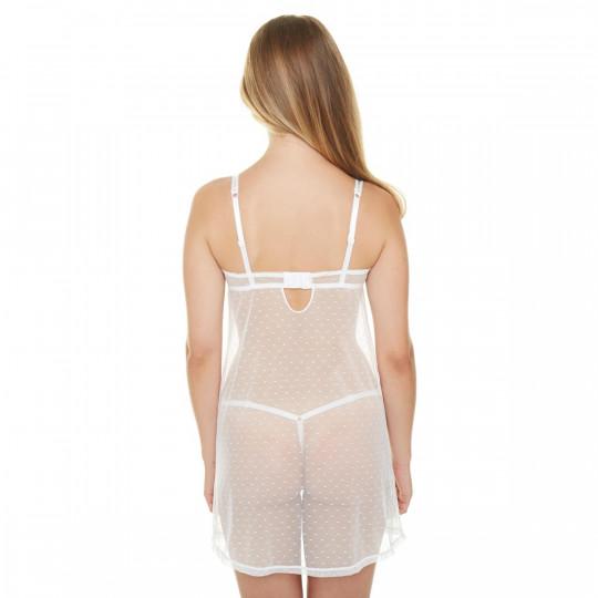 Babydoll + string ivoire Je Le Veux - vue 3