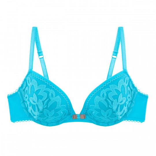 Soutien-gorge ampliforme push moulé turquoise Sirène
