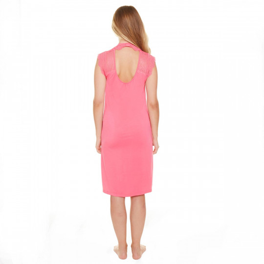 Chemise de Nuit rose Sorbet - vue 3