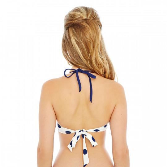 Haut de maillot push-up marine/ivoire Cannes by Brigitte Bardot - vue 2