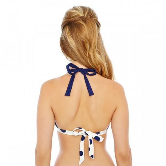 Haut de maillot triangle marine/ivoire Cannes by Brigitte Bardot - vue 2