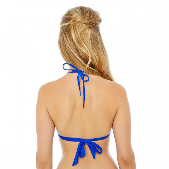 Haut de maillot triangle bleu roi Mambo by Brigitte Bardot - vue 2