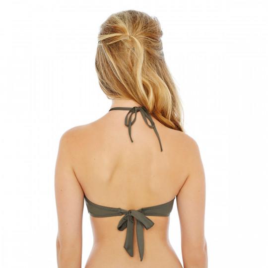 Haut de maillot bandeau kaki Jet Set by Brigitte Bardot - vue 2