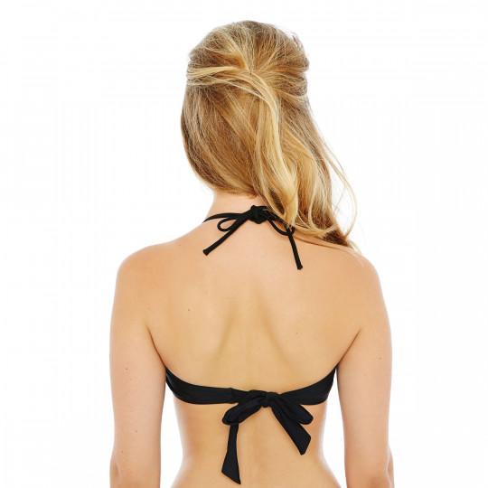 Haut de maillot bandeau noir/or Riviera by Brigitte Bardot - vue 2