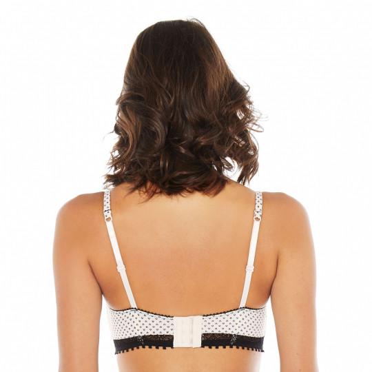 Soutien-gorge ampliforme coque moulée crème/noir Black Swan - vue 3